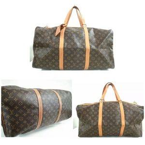 Louis Vuitton Monogram Keepall 55 Boston Bag